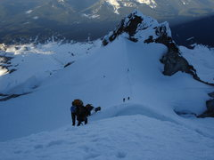 Rock Climbing Photo: Looking back on Mt. Hood.