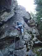 Rock Climbing Photo: George leading.