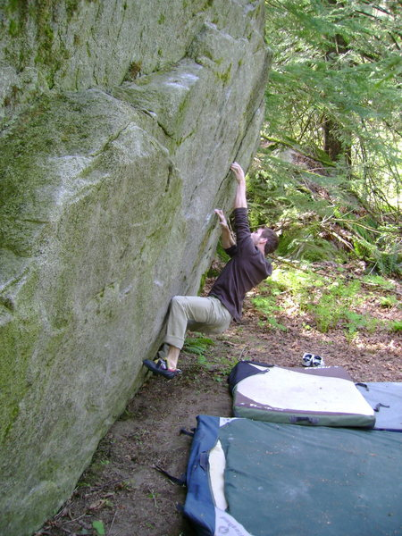 Brock Tilling on some thin holds.