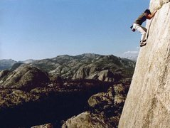 Rock Climbing Photo: Paul Parker on a solo of On the Lamb 5.9, a 500 fo...