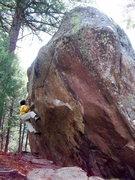 Rock Climbing Photo: Identity Theft, V6/7, Identity Boulder, Eldorado W...