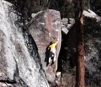 Rock Climbing Photo: BH on FA of Skyeye Arete, Lower Sobo, Eldorado Wes...