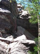 """Rock Climbing Photo: """"Great Crack""""  and a great day."""