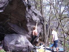 Rock Climbing Photo: Nicros fiveten working Alpine Club.