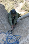 Rock Climbing Photo: me on P1