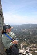 Rock Climbing Photo: ...me on Lunch Ledge