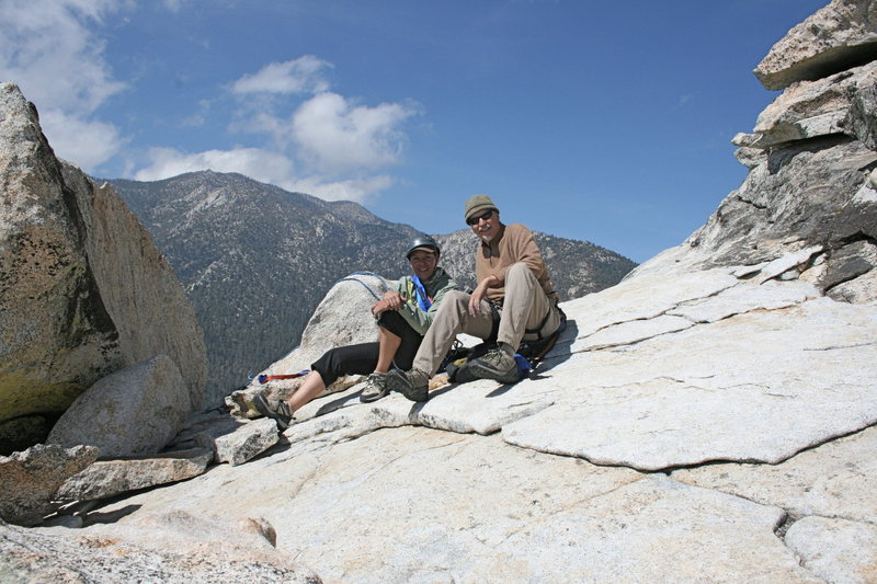 Rock Climbing Photo: me & Bill at the top of Fingertrip 5.7