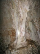 Rock Climbing Photo: Cool growth on the side of the cave wall.