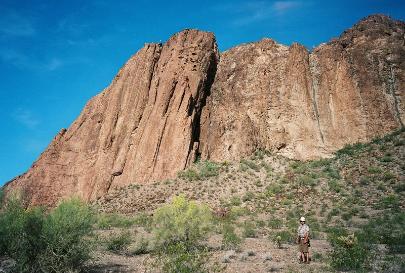 Rock Climbing Photo: Soleman on the approach from the wilderness boundr...