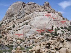 Rock Climbing Photo: From left to right: Coyote Corner (5.9) Dimpled Ch...
