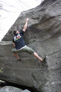 Rock Climbing Photo: Matt Wallace reaching for the crimp