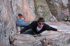 Rock Climbing Photo: Chris on Hidden Treasure  Photo: Travis Hibbard