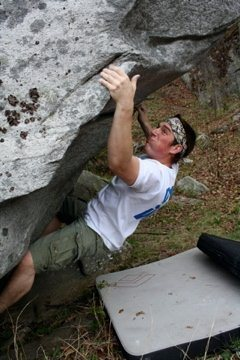 Rock Climbing Photo: Me breathing hard on the last move of this super f...