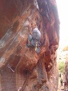 Rock Climbing Photo: Double knee bar action