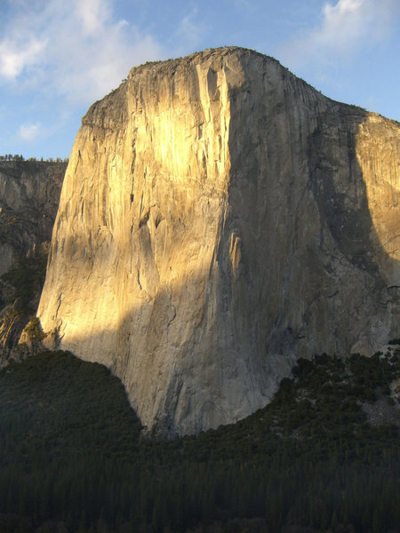 Rock Climbing Photo: A nice view of El Capitan in the late day sun, as ...