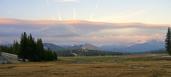 Rock Climbing Photo: An unusual cloud formation at dusk in Tuolumne Mea...