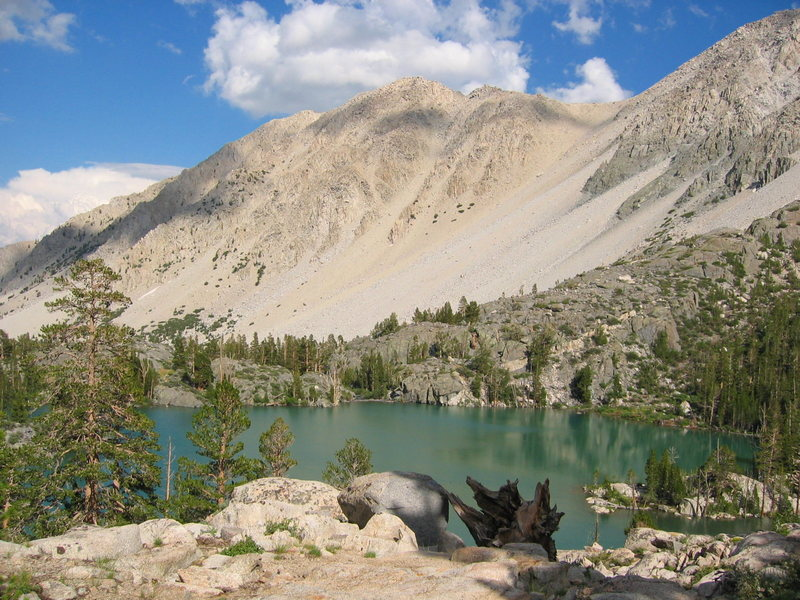 The scenery on the way up to the Palisade Glacier, launching point for a climb of Thunderbolt Peak - Eastern Sierra