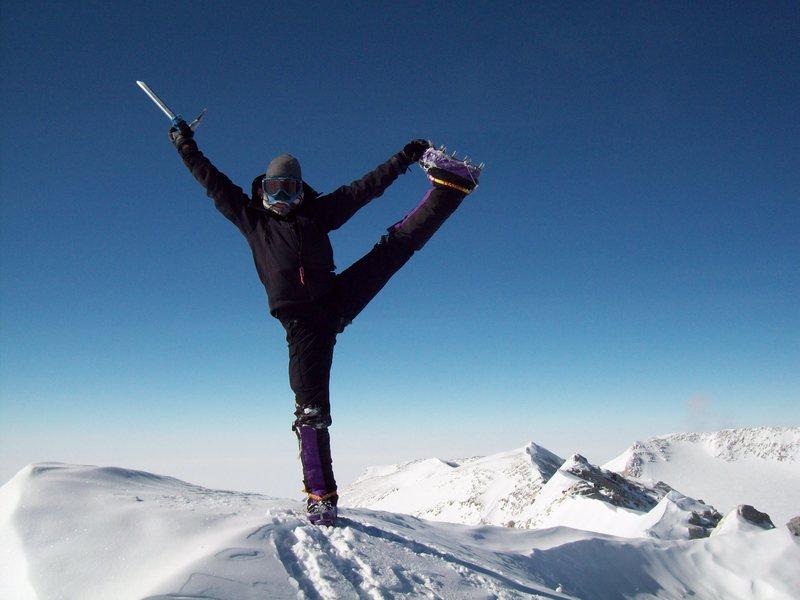 Summit Pose on Mt. Vinson