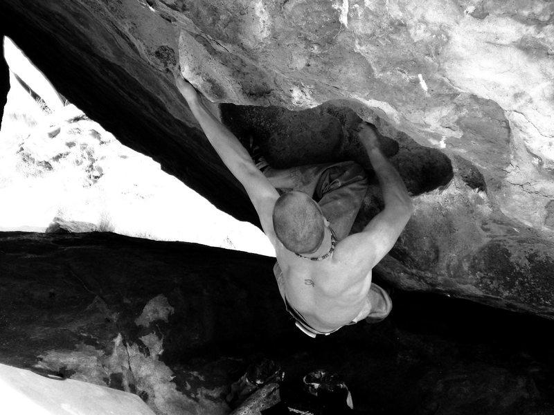 Rock Climbing Photo: Ethan sending.
