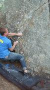 Rock Climbing Photo: seth on sit start