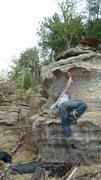 Rock Climbing Photo: Seth getting it