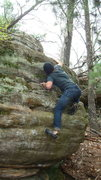 Rock Climbing Photo: loving it