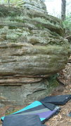 Rock Climbing Photo: Right side of bulge.