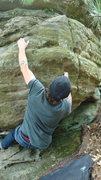 Rock Climbing Photo: making it