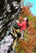 Rock Climbing Photo: Unknown climber on Metamorphosis