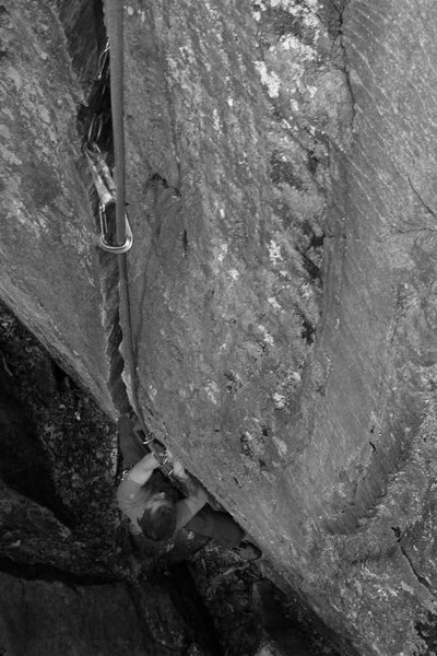 Rock Climbing Photo: mike following BJC