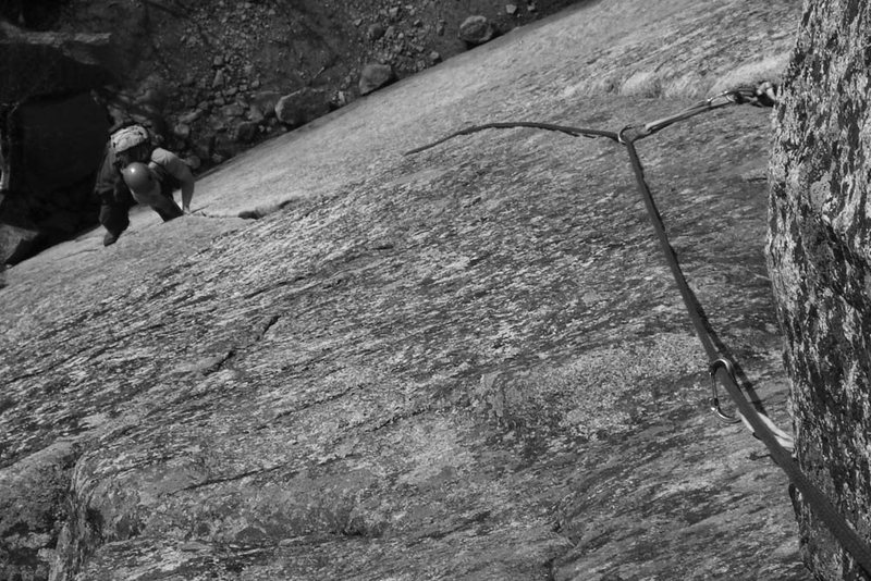 Rock Climbing Photo: Mike happy to be jamming on Reppy's Crack...