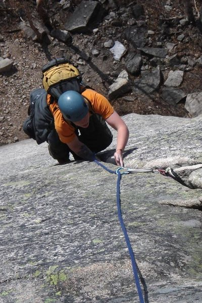 Rock Climbing Photo: Mike getting toward the top of Reppy's...