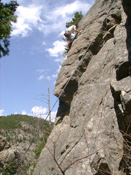Another of John on the overhang
