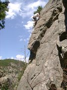 Rock Climbing Photo: Another of John on the overhang