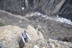 Rock Climbing Photo: Virgil Ash on the third pitch.