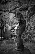 Rock Climbing Photo: Quincy Quarries, Quincy, MA. Fall 1969
