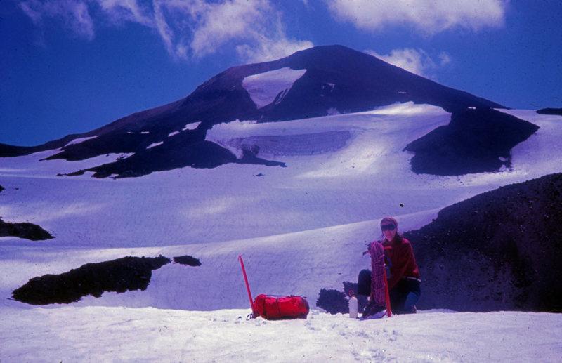 Renfroe Glacier, Middle Sister. Oregon Cascades. July 1972