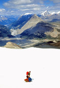 Rock Climbing Photo: Looking NW up the Sunwapta River Valley from the N...