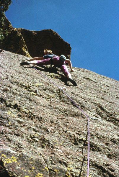 Rock Climbing Photo: Quest for Balance on Dinosaur Mountain, Boulder OS...