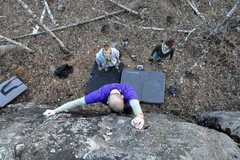 Rock Climbing Photo: Black streak, Photo credit Pete Lande