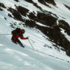 Dropping into the E Bowl after skiing from the summit of Gray's Peak to the Gray's-Torrey's Col. May 1987