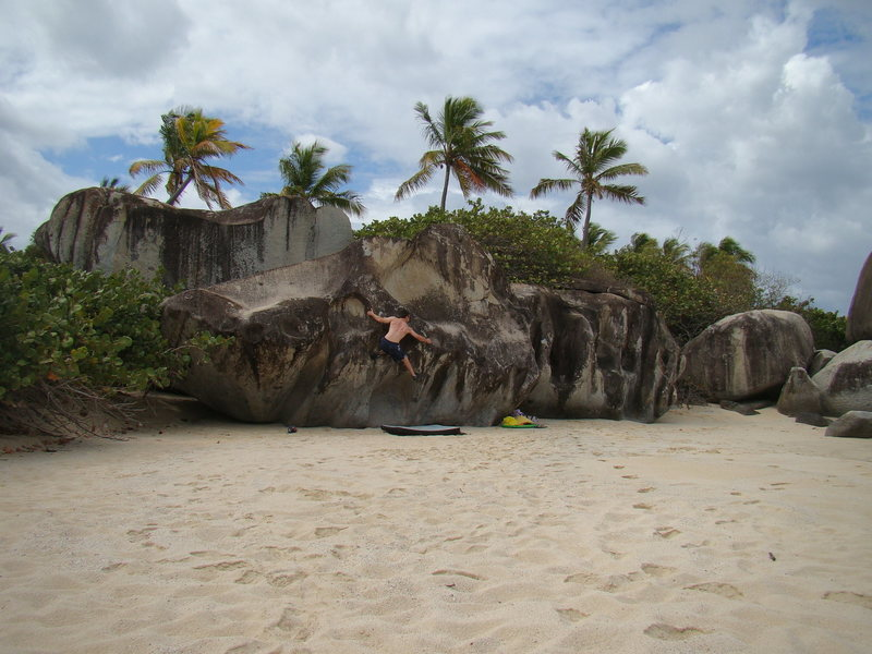The two Little Trunk Bay boulders