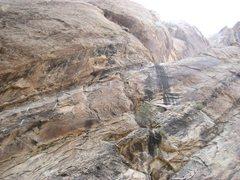 Rock Climbing Photo: NEAR THE TOP OF THE CLIMB