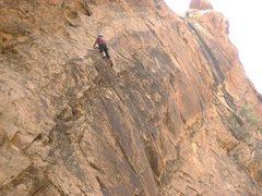 Rock Climbing Photo: Paul on Sidewinder. photo Andy Ross
