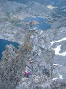 Rock Climbing Photo: On the final ridge of the Clyde Minaret.