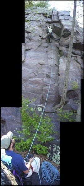 Rock Climbing Photo: Corny photo composite of belayer, rock climb, and ...