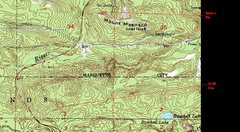 Rock Climbing Photo: Map of Ski Hill Area