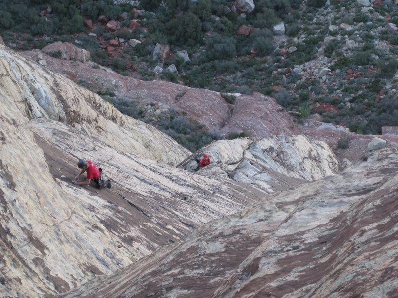 Rock Climbing Photo: Climbers on pitch 5, Bourbon St.