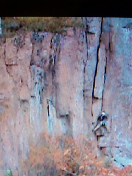 Rock Climbing Photo: sorry for the very bad quality because it's a pict...