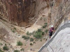 Rock Climbing Photo: Paul at the top. photo Jim Shimberg